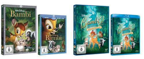 """Bambi"" Diamond Edition auf Disney DVD, Disney Blu-ray Disc"