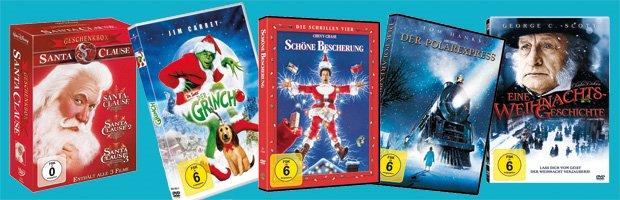 Jetzt die schönsten Weihnachtsfilme bei amazon.de bestellen!