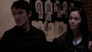 Left to right: Simon Quarterman plays Fr. Ben Rawlings and Fernanda Andrade plays Isabella Rossi in THE DEVIL INSIDE, from Insurge Pictures.