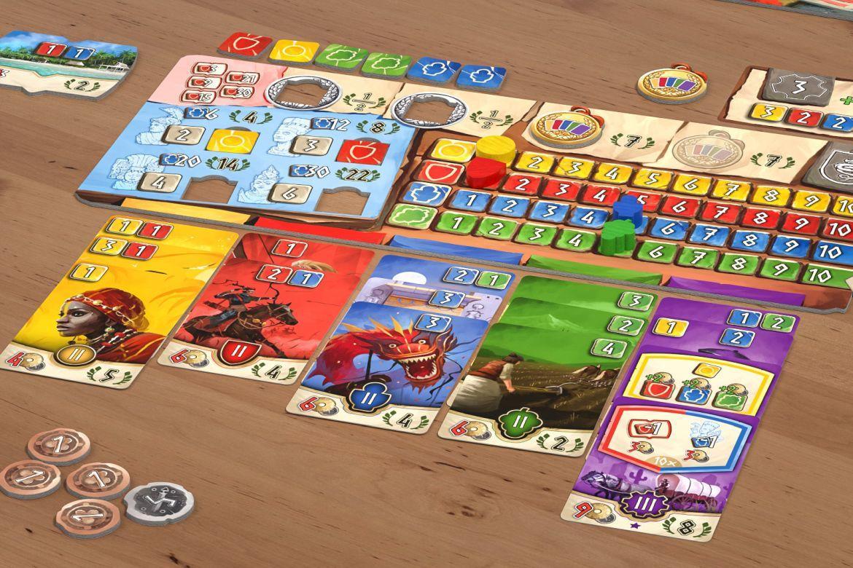 Spielszene aus dem Brettspiel Hadara