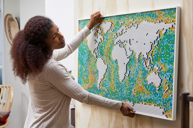 LEGO® Art World Map